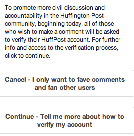 Huffington Post Account Verification is annoying