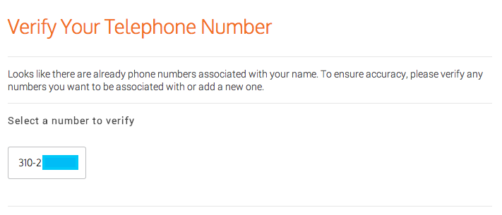 phone number verification