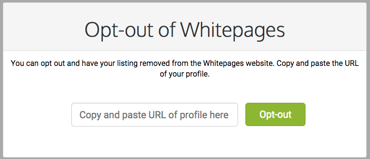 How to opt out of whitepages