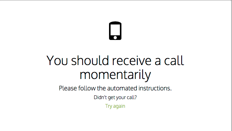 Your phone should ring immediately
