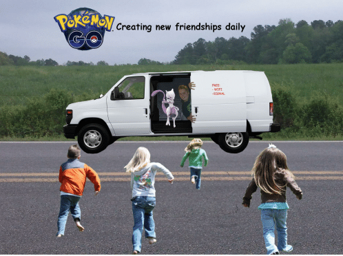 Pokémon in questionable minivan