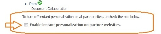 Enable or disable personalization