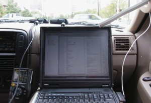 Driving around to find open networks