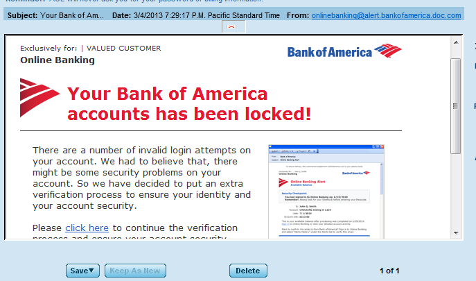 bank of america transfer with email