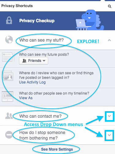 Explore all the privacy options