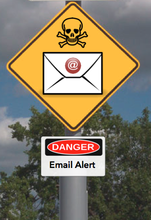 Email accounts can be hacked or spoofed