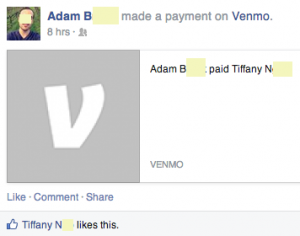 Adam did not know Venmo posted this on his behalf