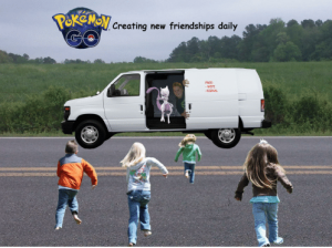 Pokemon in questionable minivan